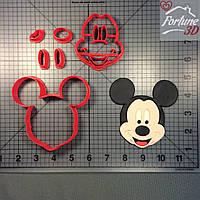Вырубка для печенья Микки Маус. Mickey Mouse cutter. Disney вырубка. Пластиковые вырубки. Вырубка под заказ