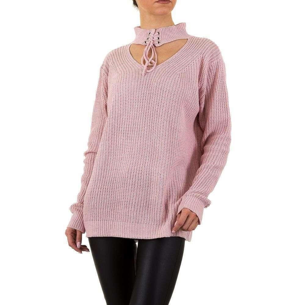 Женский свитер с чокером Emma&Ashley (Словения), Розовый