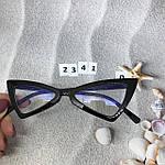 Модные имиджевые черные ретро очки, фото 4