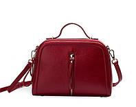 Жіноча сумка червона через плече-шкіряна опт