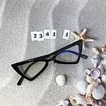 Модные имиджевые черные ретро очки, фото 3
