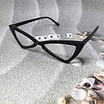 Модные имиджевые черные ретро очки, фото 2