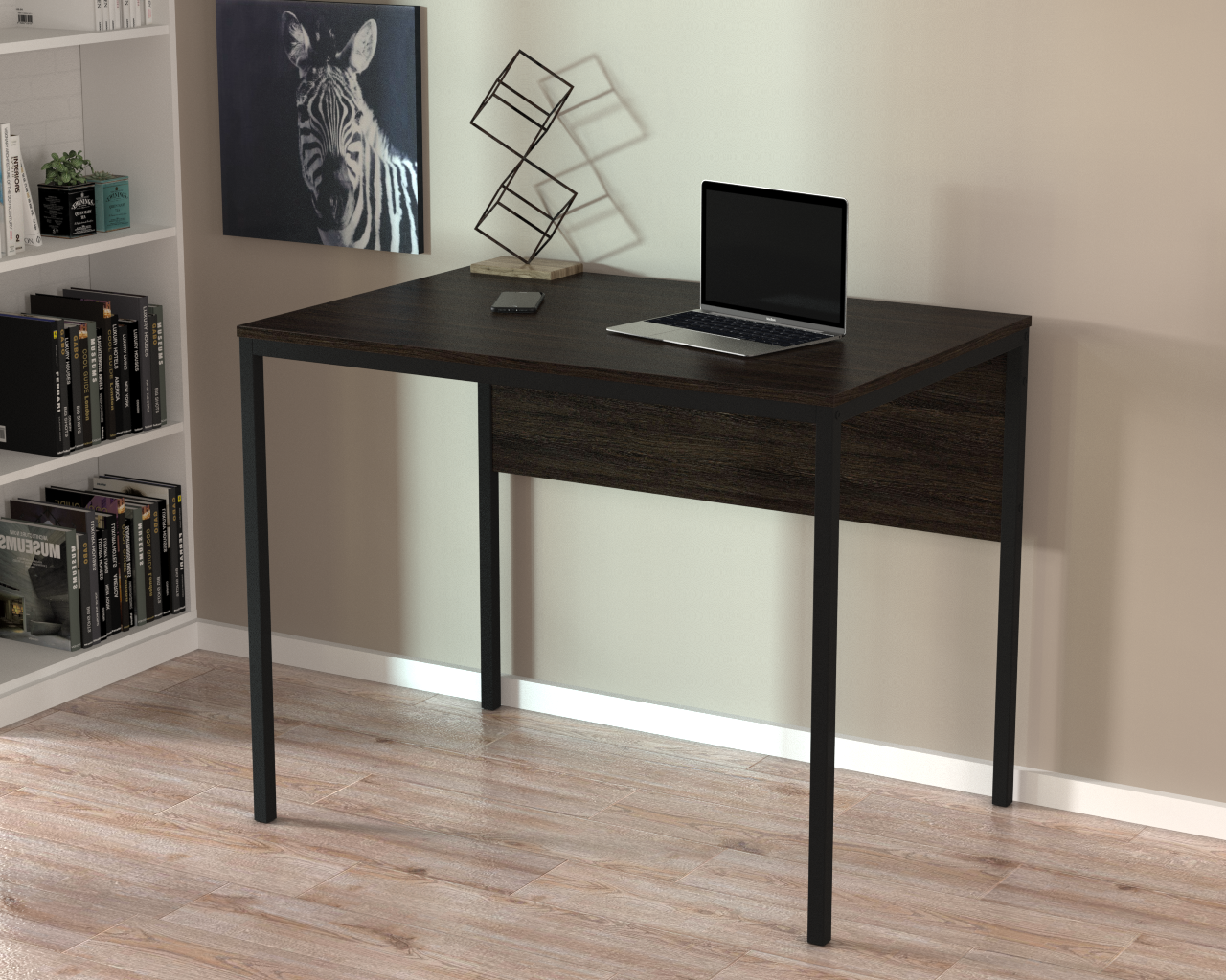 Письменный стол Loft-design L-2p mini, металл+дсп