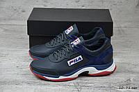 Мужские кожаные кроссовки Fila. Темно-синие. Натуральная кожа, фото 1