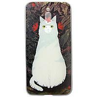 Чехол с рисунком Printed Silicone для Meizu M6T Кошка