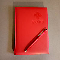 Діловий щоденник еко-шкіра бордо