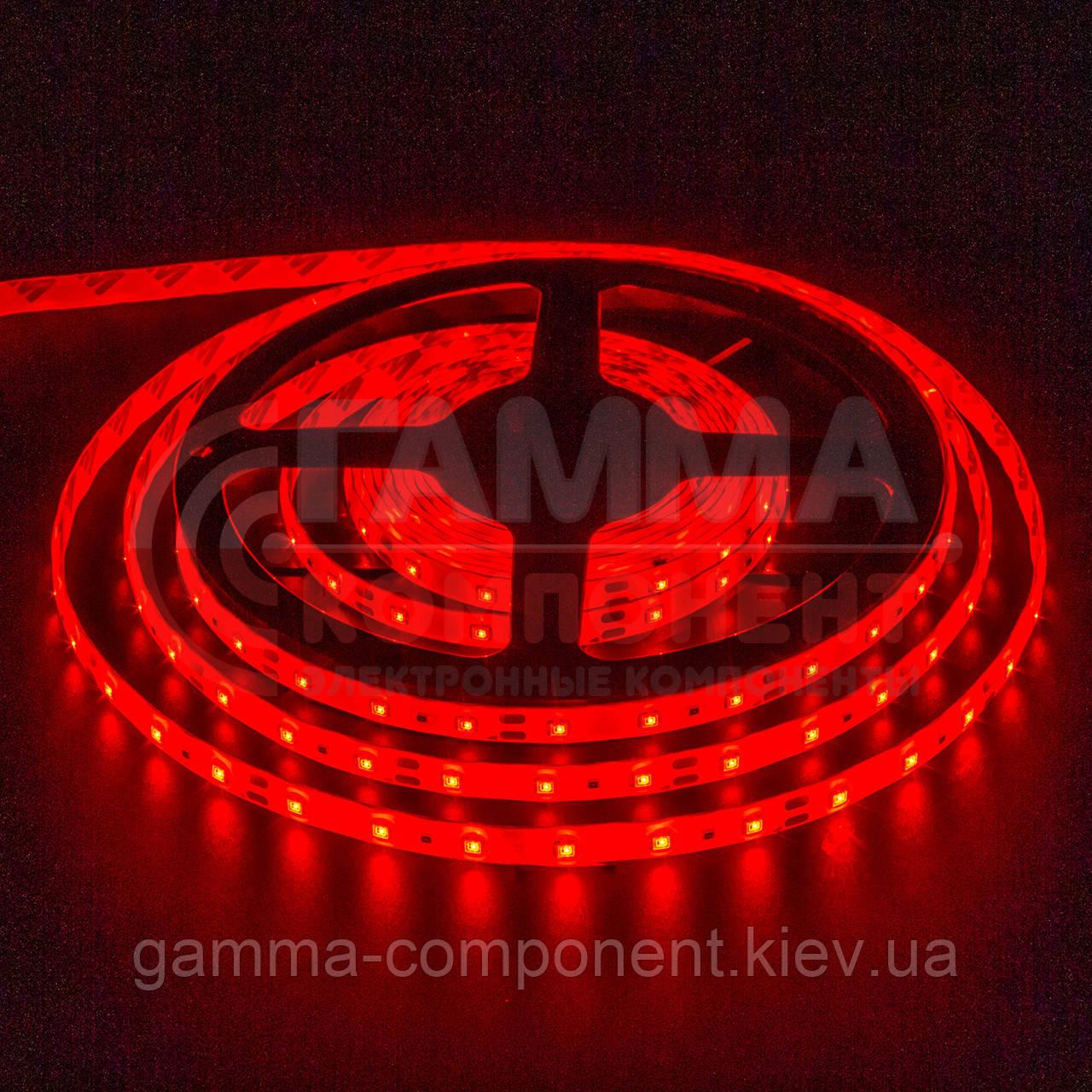 Светодиодная лента SMD 3528 (60 LED/м, красный, IP20, 12В
