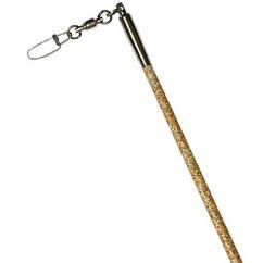 Палочка Pastorelli Glitter 60см стекловолокно 00412 Gold/ Золото ручка чёрная