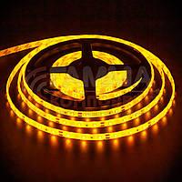 Светодиодная лента SMD 3528 (60 LED/м), желтый, IP20, 12В, фото 1