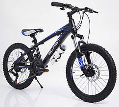 Горный Подростковый Велосипед S300 BLAST-БЛАСТ. Диаметр колёс 20'',Рама 11'' Япония Shimano. Синий