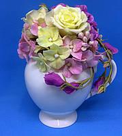 Букет декоративный №1| Холодная керамика | Букеты ручной работы