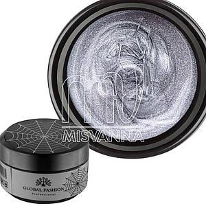 Гель-паутинка Global Fashion Easy Spider Gel, 5 г серебро