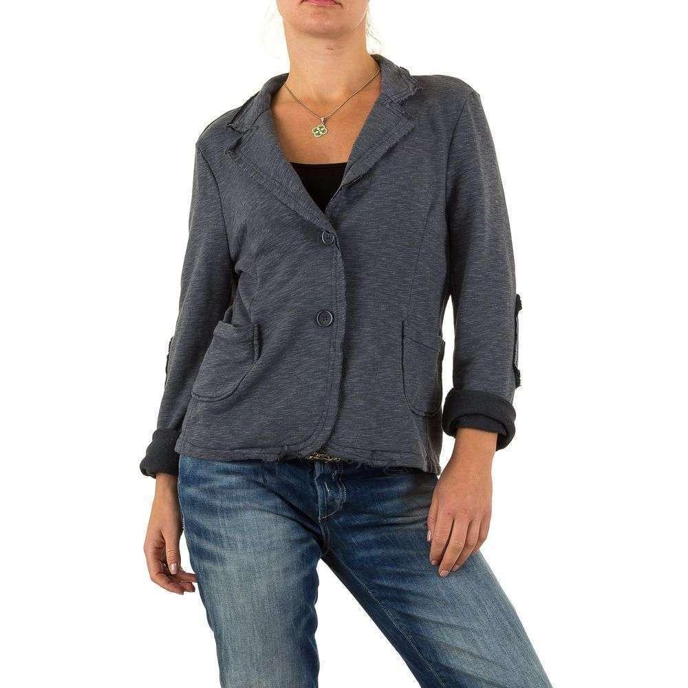 Пиджак женский с латками на локтях Carla Giannini (Франция), Серый