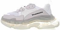 Женские кроссовки Balenciaga Triple S Clear Sole White (в стиле Баленсиага Трипл С) белые