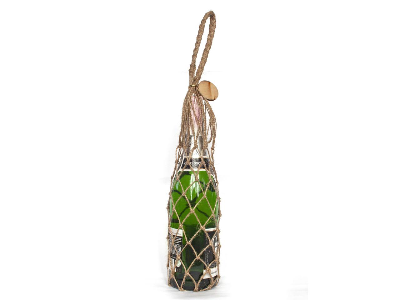 Сумка для бутылки -  подарочная сумка -  винная сумка - Авоська - Джут