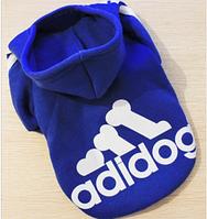 Толстовка с подчесом Adidog синяя