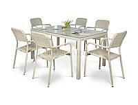 Комплект мебели из техноротанга TORINO белый