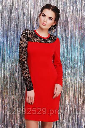 """Платье """"Chantal"""" красный, фото 2"""