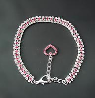 Ожерелье Русская красавица розовый кристалл