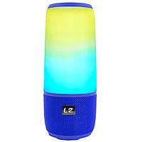 Блютуз колонка LZ Pulse P3 Blue для качественной музыки светомузыка функция Bluetooth