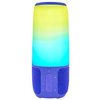 Блютуз колонка LZ Pulse P3 Blue для качественной музыки светомузыка функция Bluetooth, фото 3