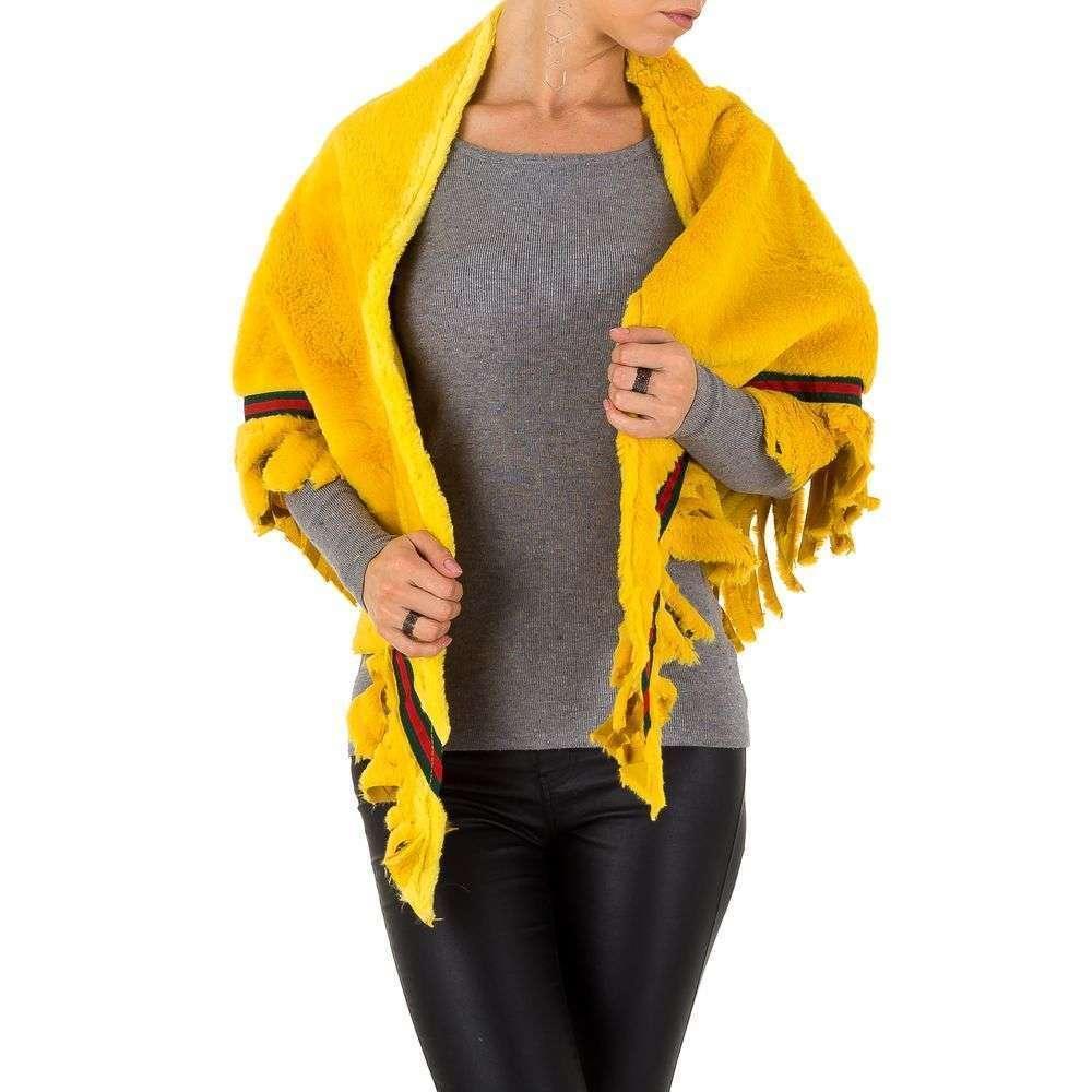 Плюшевая шаль женская Holala (Европа),  универсальный размер, Желтый