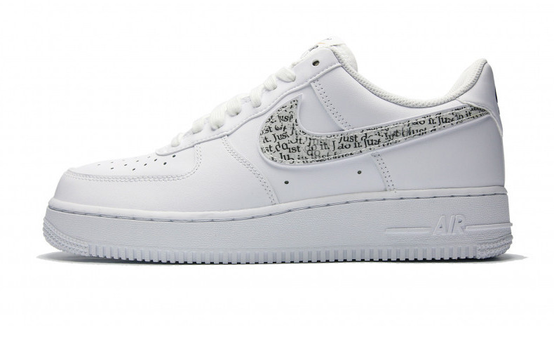 Женские кроссовки Nike Air Force 1 '07 LV8 LNTC 'Just Do It Pack'  White