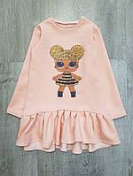 Детское платье-туника Лол 92-128 см