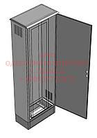 Металлический напольный шкаф монтажный 800х400х2300 с цоколем