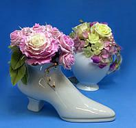 Букет декоративный №2 | Ваза туфелька | Букеты ручной работы