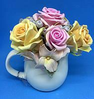 Букет декоративный №3| Керамическая чашечка | Букеты ручной работы