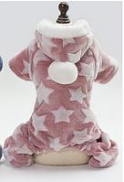 Нежный плюшевый комбинезон Star розовый
