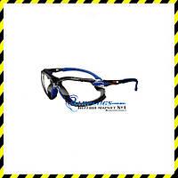 Очки трансформеры 3M Solus Clear (оправа blue/black) с обтюратором (2 в 1), фото 1