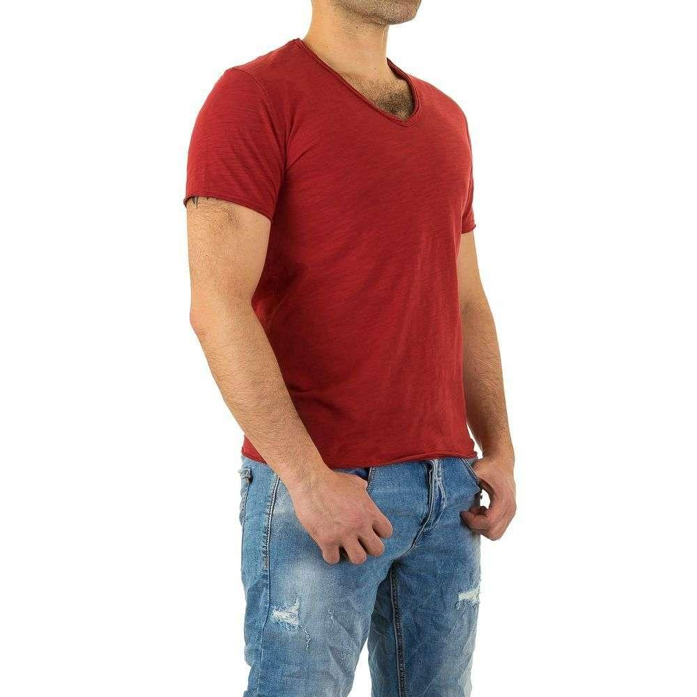 Мужская футболка от Y. Two Jeans - red - KL-H-F037-red