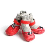 Носки с латексным покрытием Мордашка красные