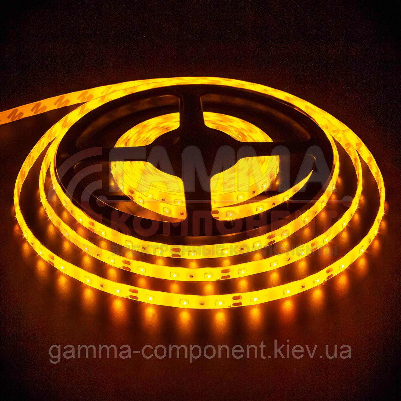 Светодиодная лента SMD 2835 (60 LED/м), желтый, IP65, 12В бобины от 5 метров