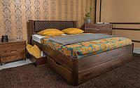 Двуспальная деревянная кровать Grace Грейс 180*200 с выдвижными ящиками (Премиум серия), фото 1