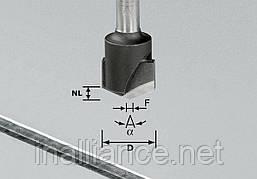 Фреза V-образная пазовая для фрезерования композитных панелей 135 градусов HW S8 D18-135°/Alu Festool 491443