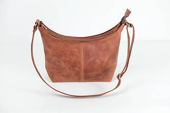 Женская сумочка шопер «Лодочка»Винтаж Коньяк