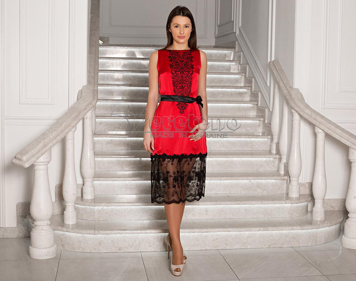 cec74e052ae9e3 Червоне елегантне плаття з вишивкою, цена 2 500 грн., купить Козова —  Prom.ua (ID#899027126)