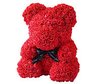 Мишка из 3D роз 25 см в красивой подарочной упаковке - лучший подарок девушке на любой праздник