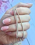Серебряная цепочка плетение снейк (женская), фото 3
