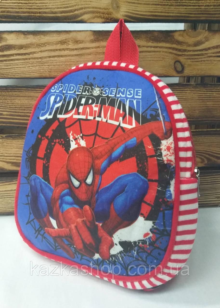 """Детский тканевой рюкзак красного цвета, """"Spider Man"""", регулируемые лямки"""