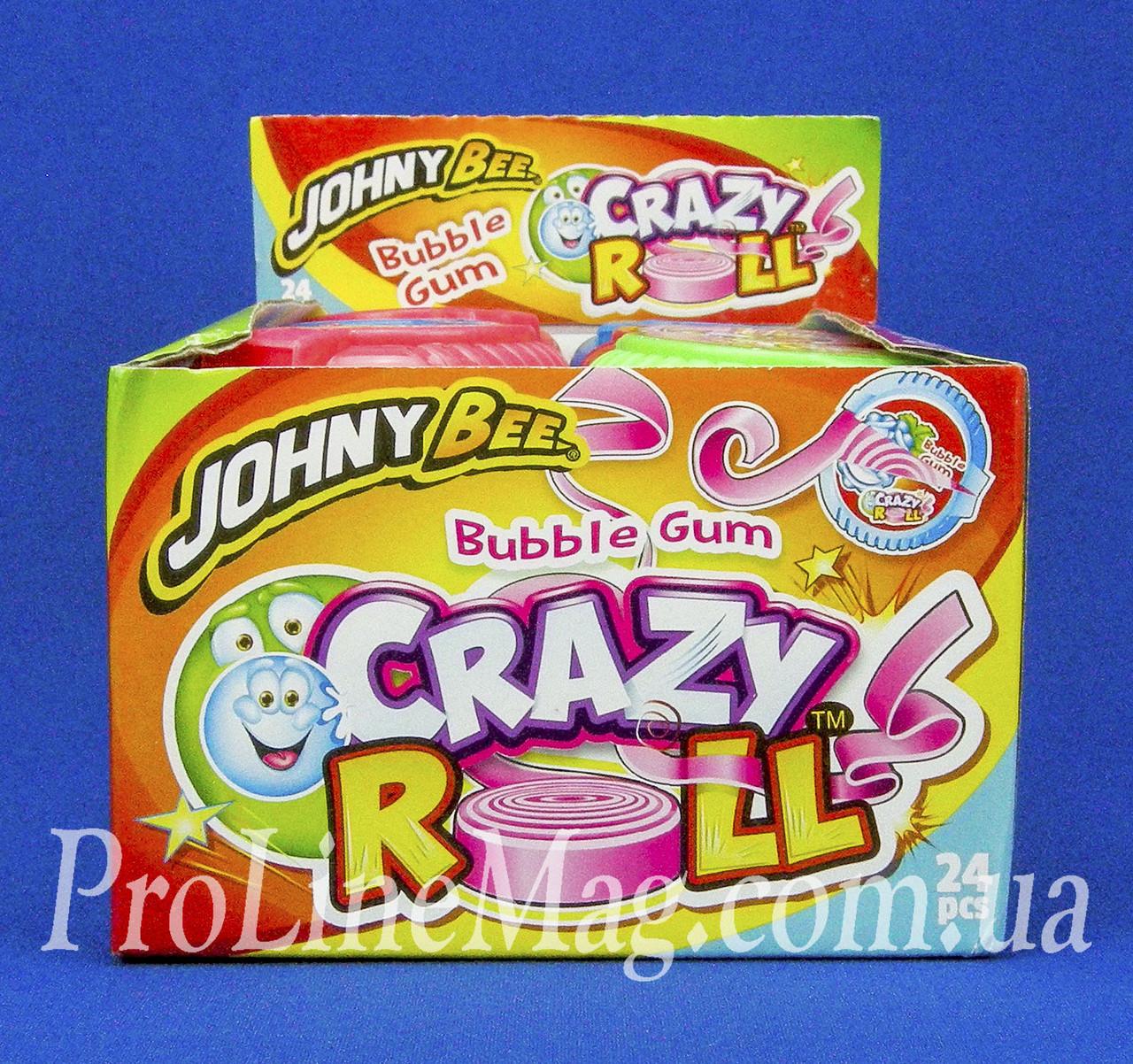 Жевательная резинка JOHNY BEE® Crazy Roll рулетка фруктовая