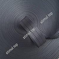 Тесьма полиэстеровая 28 мм х 50 метров 800 кг - лента для стяжных ремней темно-серый