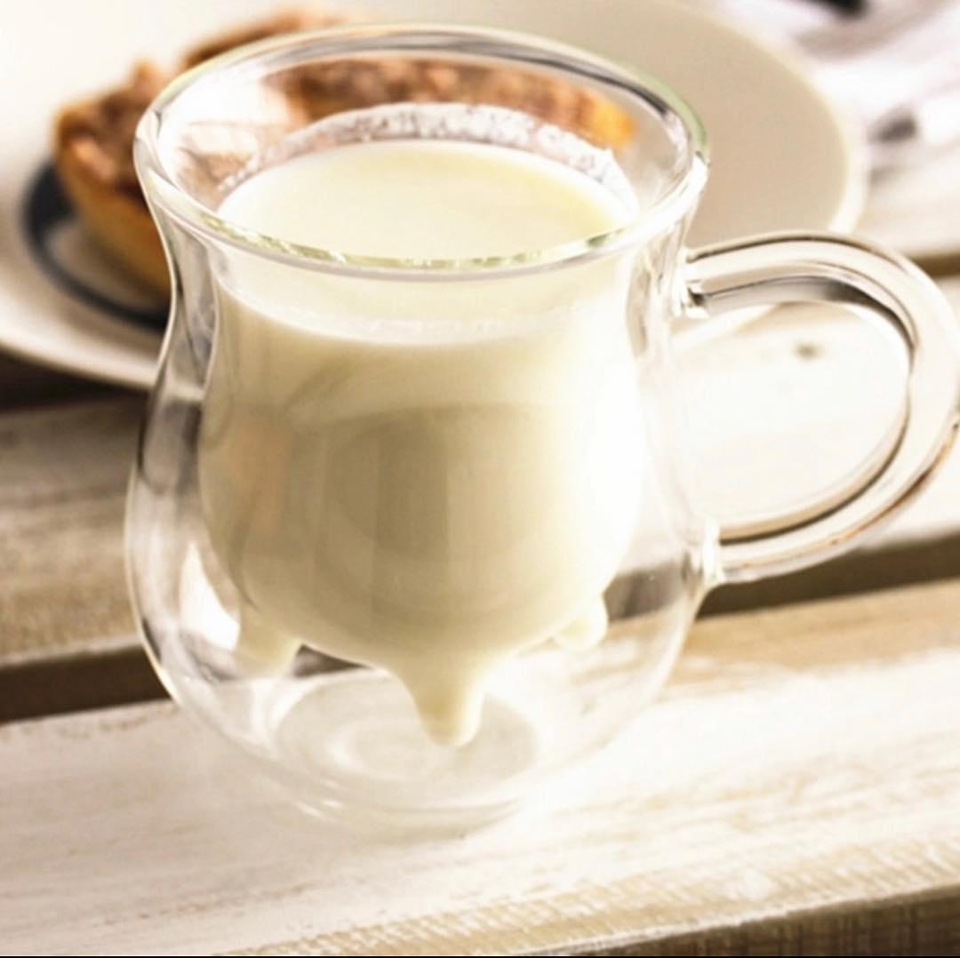Комплект молочники чашки с двойным дном 2 шт 240 мл чашка для молока молочник двойные стенки