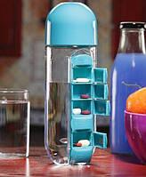 Podarki Бутылка для воды Pill Vitamin Water Bottle Blue