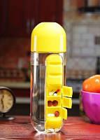 Podarki Бутылка для воды Pill Vitamin Water Bottle Yellow