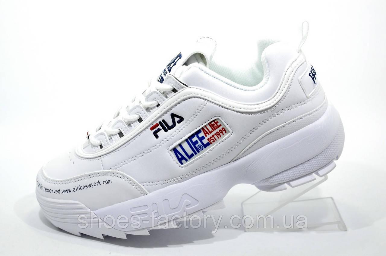 Белые кроссовки в стиле Fila Disruptor 2 x ALIFE, 2019