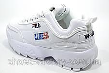 Белые кроссовки в стиле Fila Disruptor 2 x ALIFE, 2019, фото 3